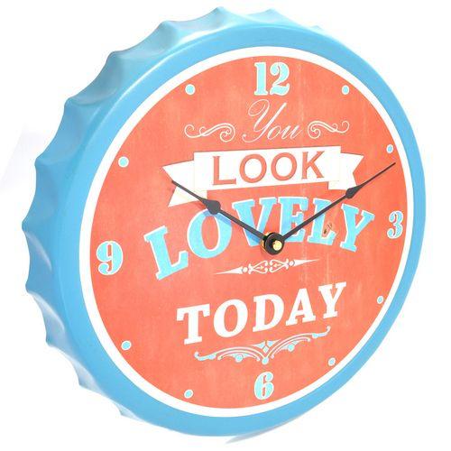 Relógio De Parede Em Formato De Tampa De Garrafa - You Look Lovely Today