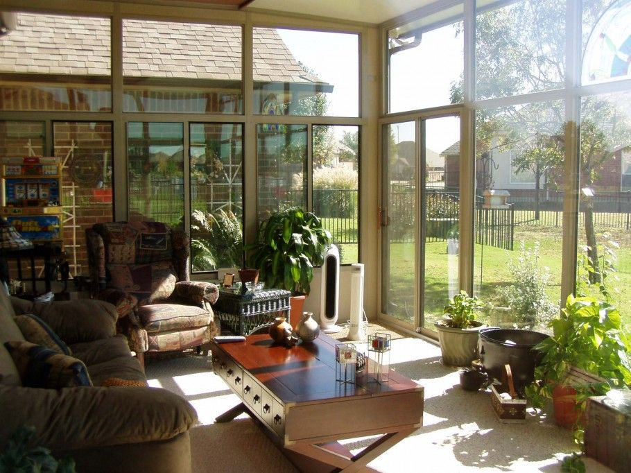 11 Magnificent Sunroom Decorating Ideas Awesome Sunroom Decor Ideas With Contemporary Natural Furnitures And White Tiles Floor Also Fabric Armchairs With ... & 11 Magnificent Sunroom Decorating Ideas: Awesome Sunroom Decor Ideas ...