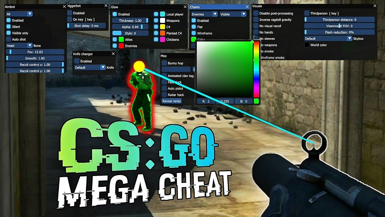 Cs Go Hack Update Silent Aimbot Chams Knife Changer Misc 21 02 2019 Cheating Download Hacks Game Cheats