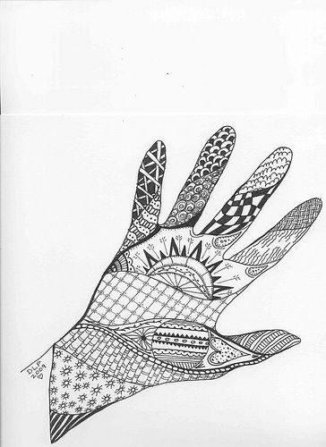 zentangle hand   Artwo...
