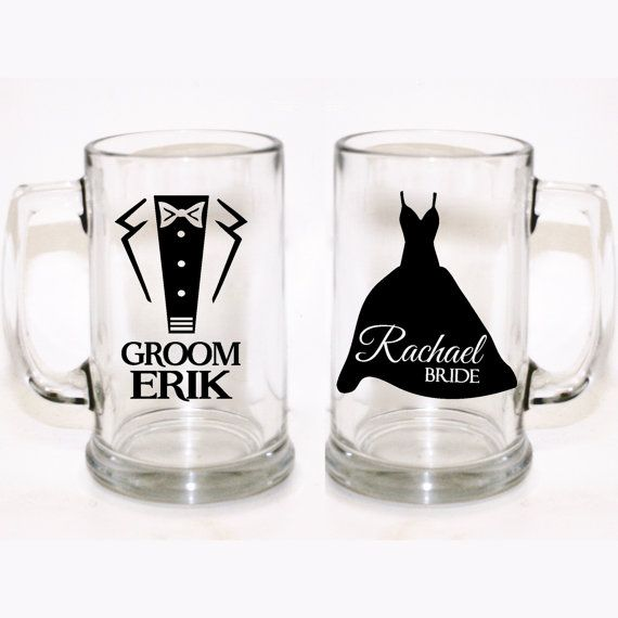 Custom Bride And Groom Glasses Custom Wedding Glasses Custom - Custom vinyl stickers for wine glasses   for business