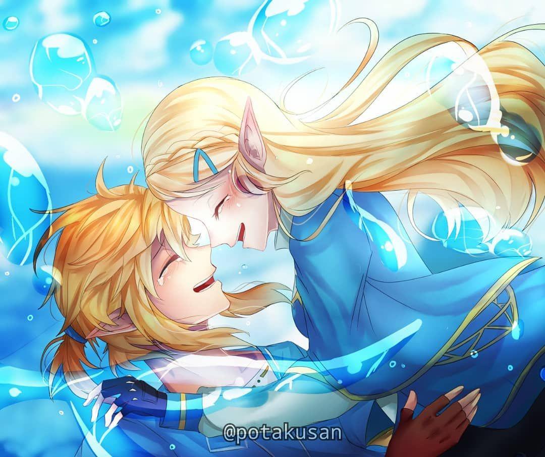 Legend Of Zelda Breath Of The Wild Art Link And Princess Zelda Botw Potakusan Legende Reborn