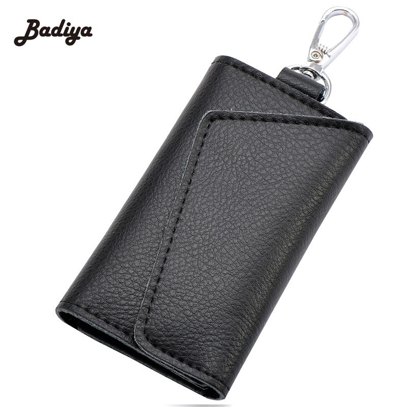 New Design Brand Famous Key Chain Holder Litchi Pattern Card Holders ...