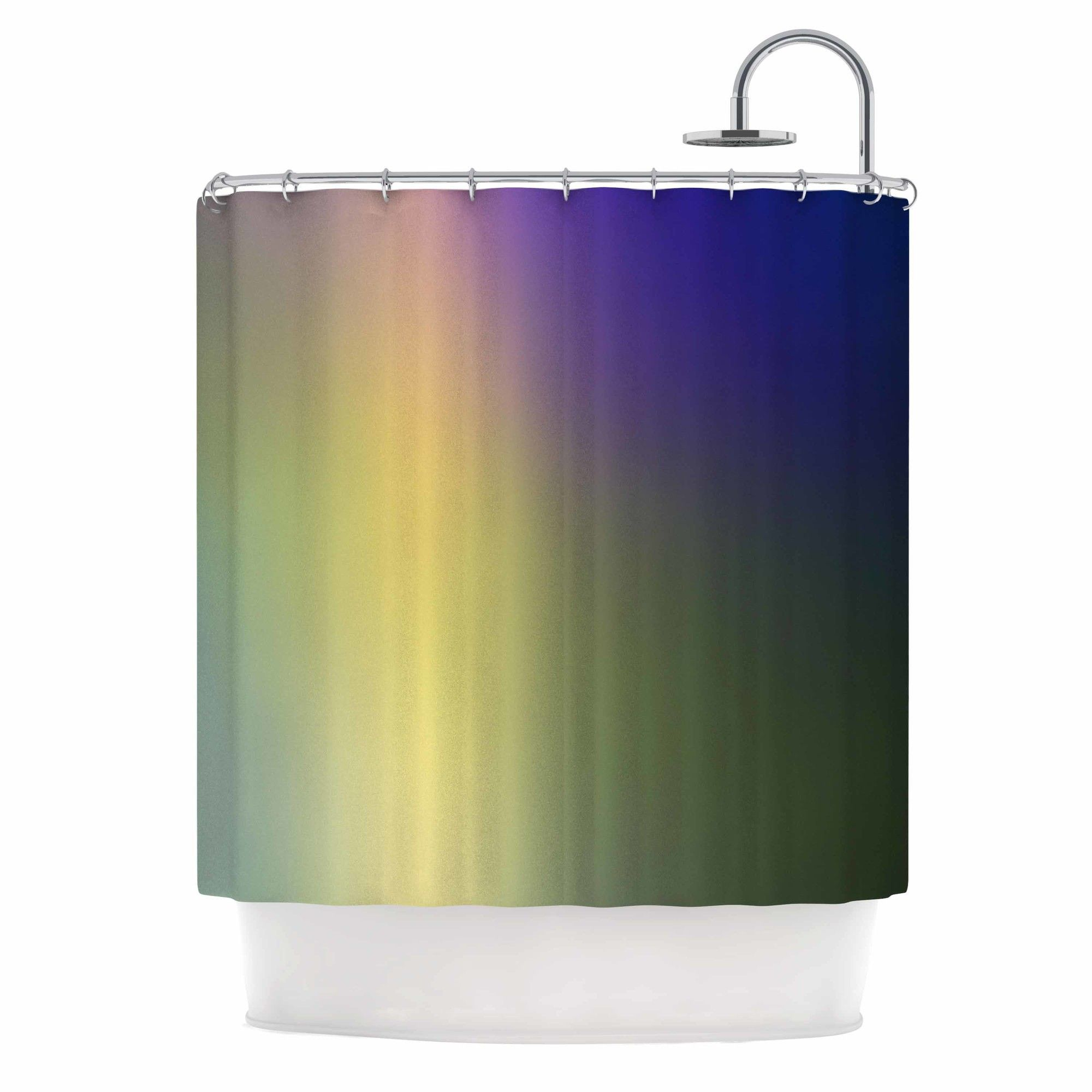 Aura Series 4 by Malia Shields Abstract Shower Curtain