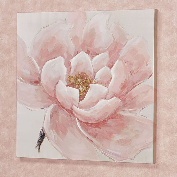 Make Me Blush Pink Flower Blossom Canvas Wall Art Flower Painting Canvas Pink Flower Painting Peony Painting