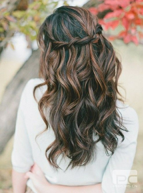 Curly Hairstyles Prom Wavy Wedding Updos - Fashion & Style - WOMAN ...