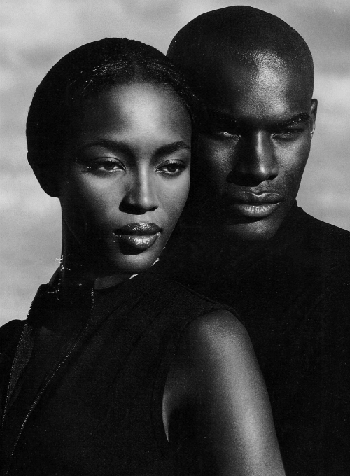 Naomi Campbell   Tyson Beckford for Ralph Lauren Polo Sport Ad Campaign. 84a740e5347f