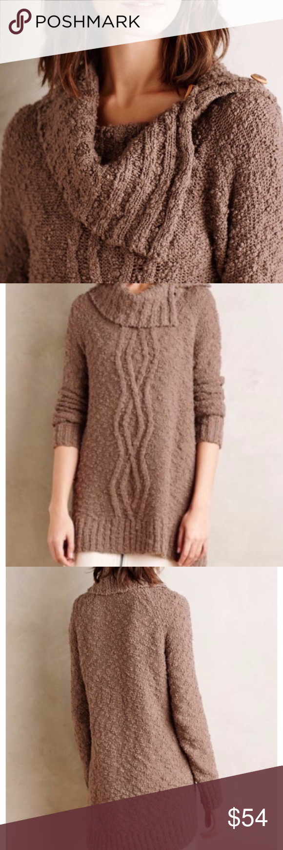 Anthropologie MOTH Cowl Neck Tunic Sweater | Tunic sweater, Cowl ...