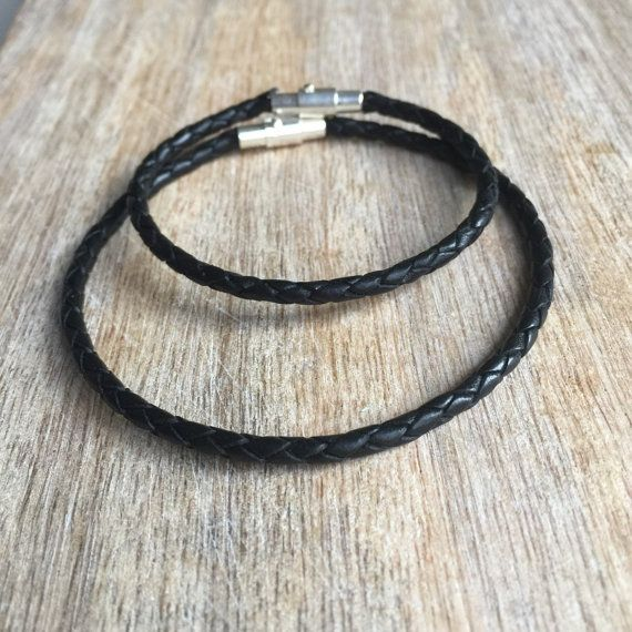 Black Waxed Cord Bracelets Ponce Inlet Set Waterproof Celtic Knot Charm His and her Bracelets Set of 2  WC001505