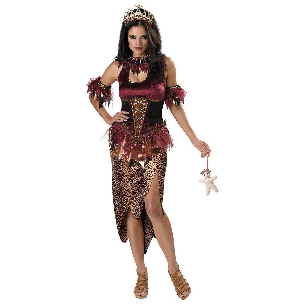 Details about Voodoo Priestess Costume Adult Witch Doctor ...