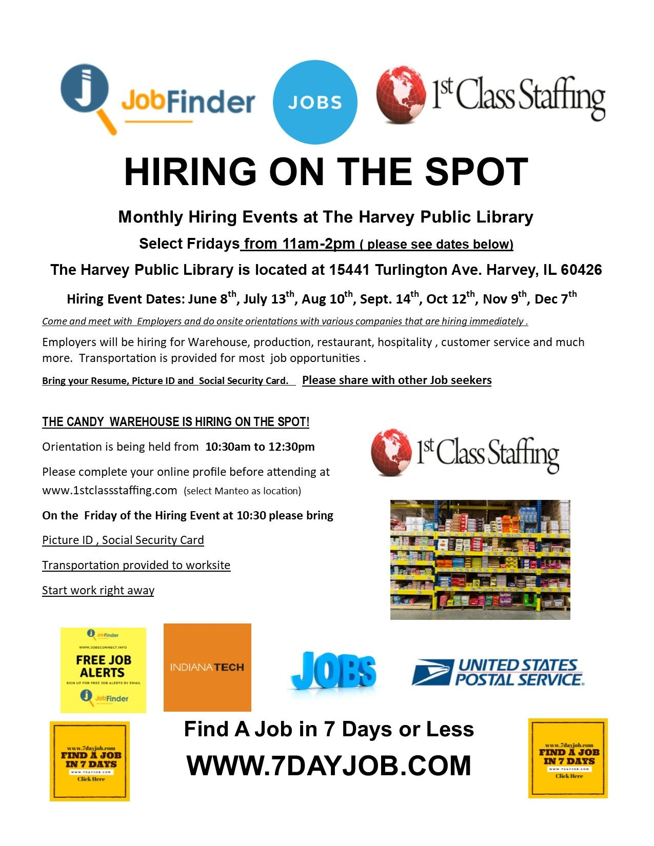 Chicago Hiring Events and Job Fairs Job fair, Job