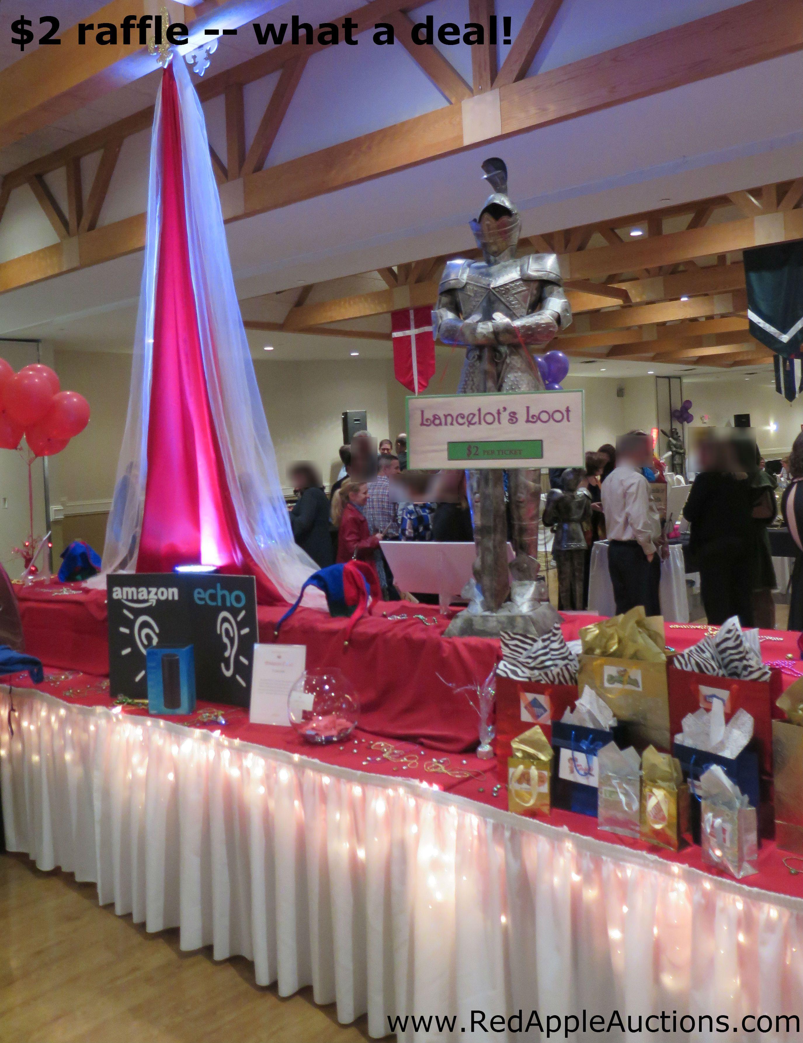 fundraising lights made it pop raffle table