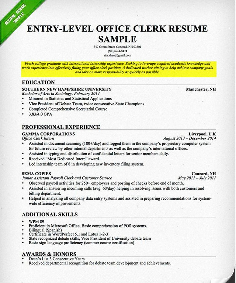 23 Resume Objective Examples for College Students in 2020