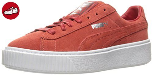 37d95716579 New in Box PUMA Suede Platform Core Women s Sneakers Barbados Cherry Size