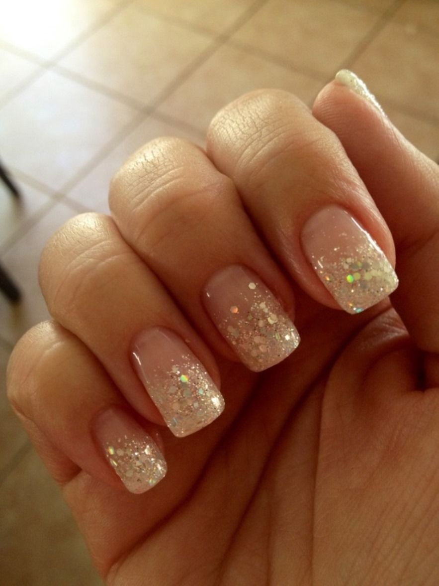 Natural Nail Designs With Glitter Besice