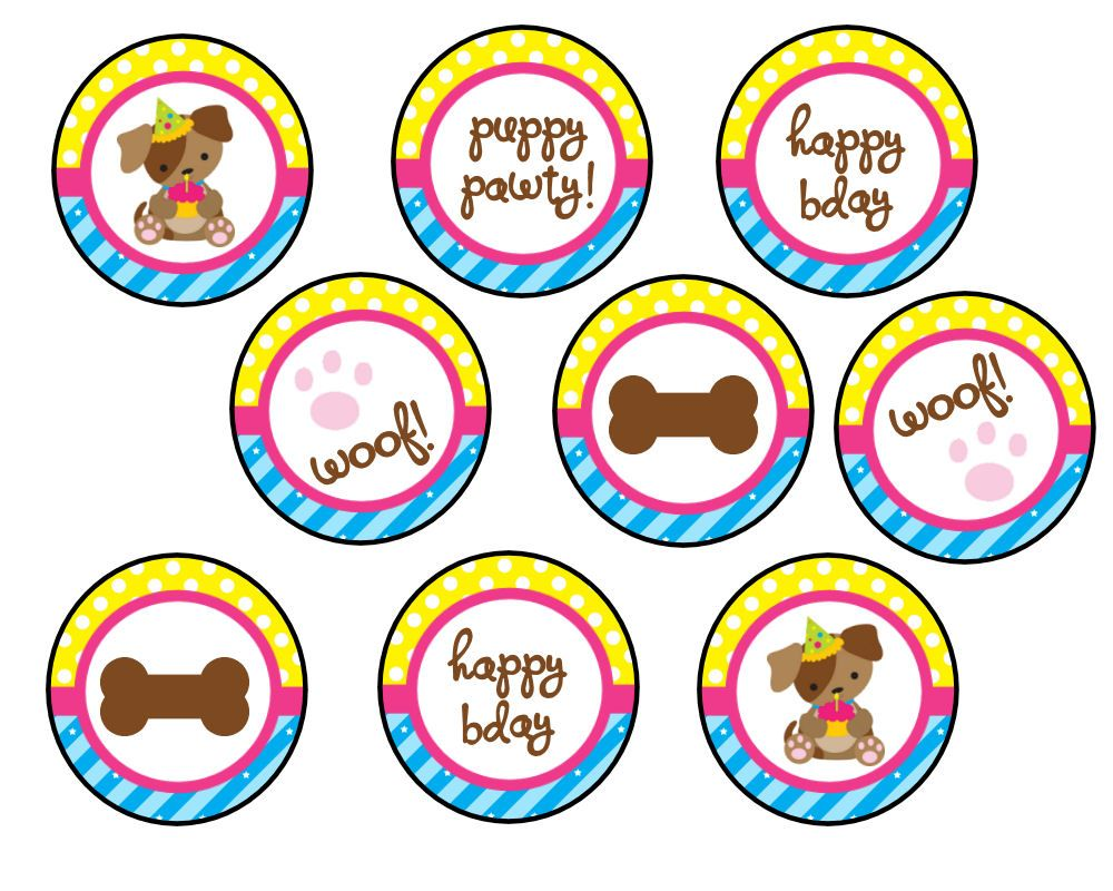 Free puppy party printables puppy