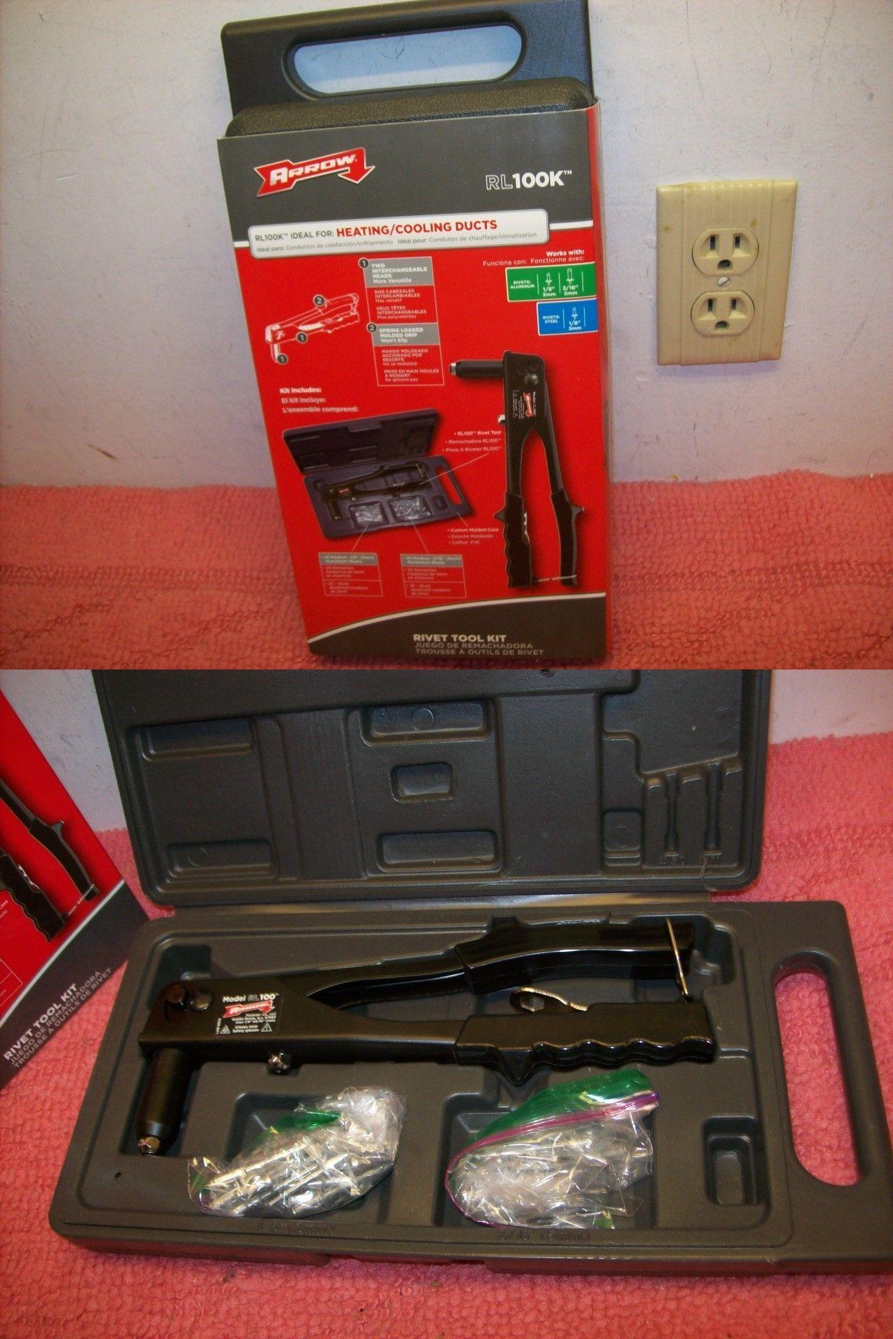Other Hand Tools 303 Arrow Fastener Rl100k Steel Rivet Tool Kit 2
