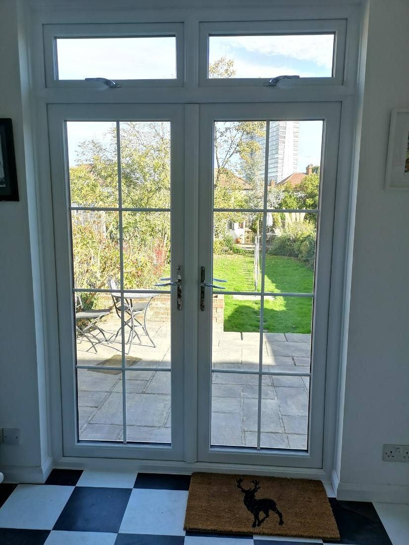 Just Fitted Today French Upvc Doors With Fanlights Building Brick Realestate Glazing Doubleglazing Property Diy Builder Glass Homeimprovement Windows Doors In