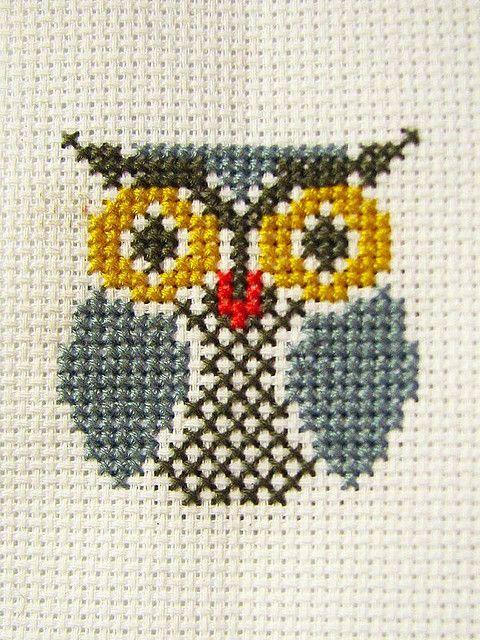 Miss Wooly S Owl By Perfect Daydream On Deviantart Projetos De Ponto Cruz