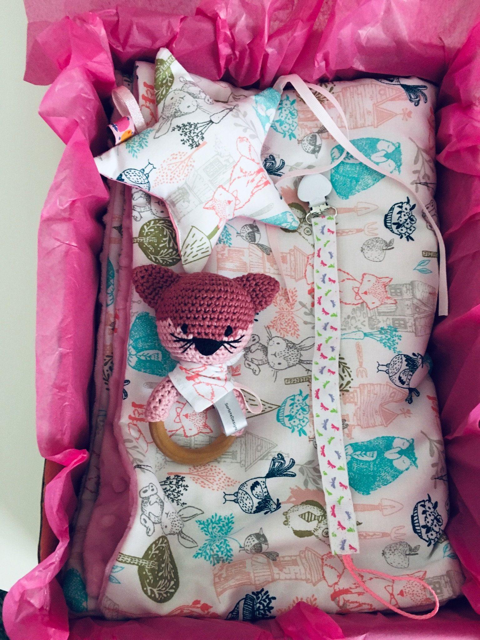 Baby girl gift set shower gift baby blanket star
