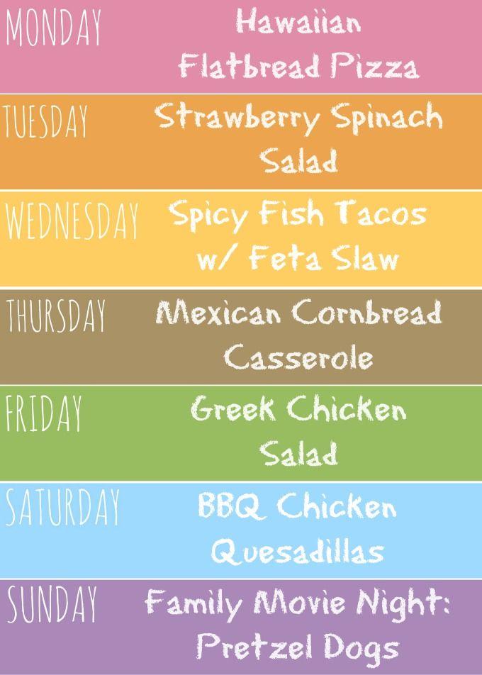 Weekly Meal Plan Recipes Kids Love   Weekly Meal Plans Weekly