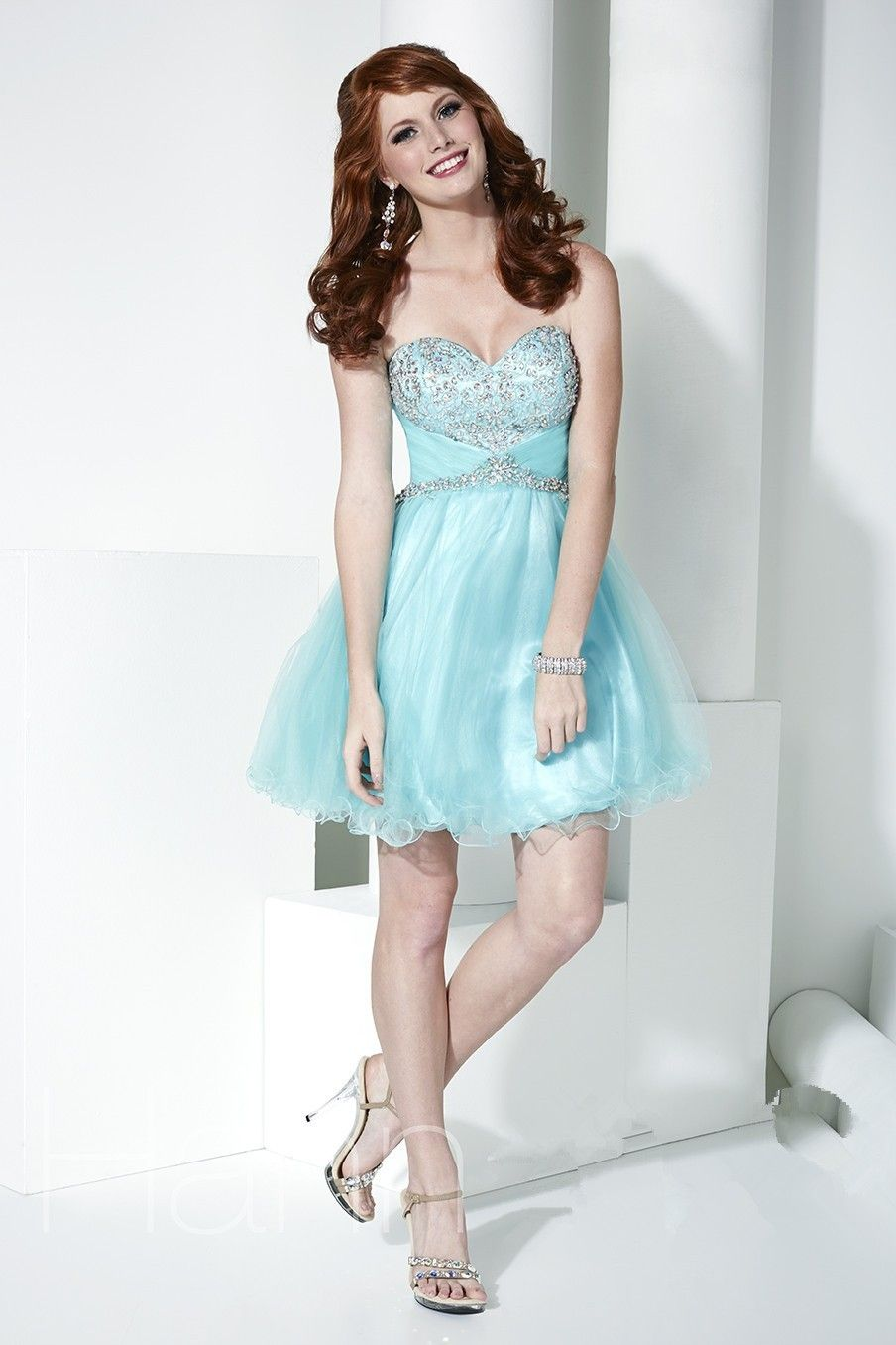 Hot short tulle cocktail dresses homecoming dresses with sweetheart