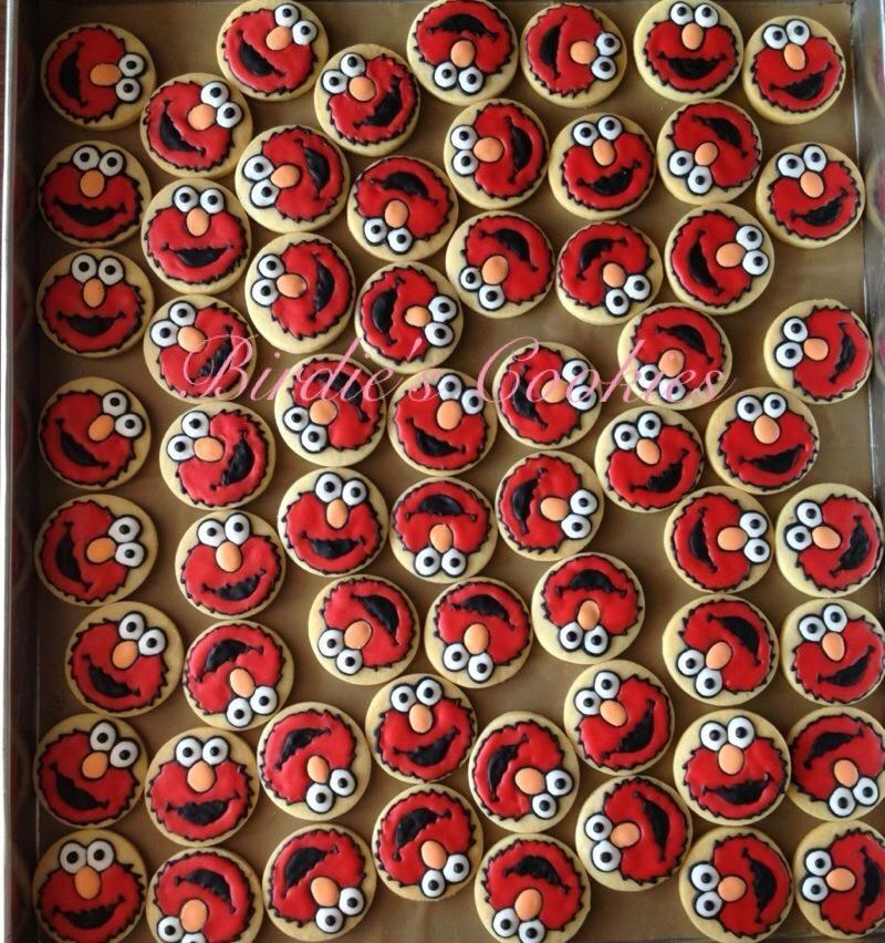 Elmo Icing Cookies
