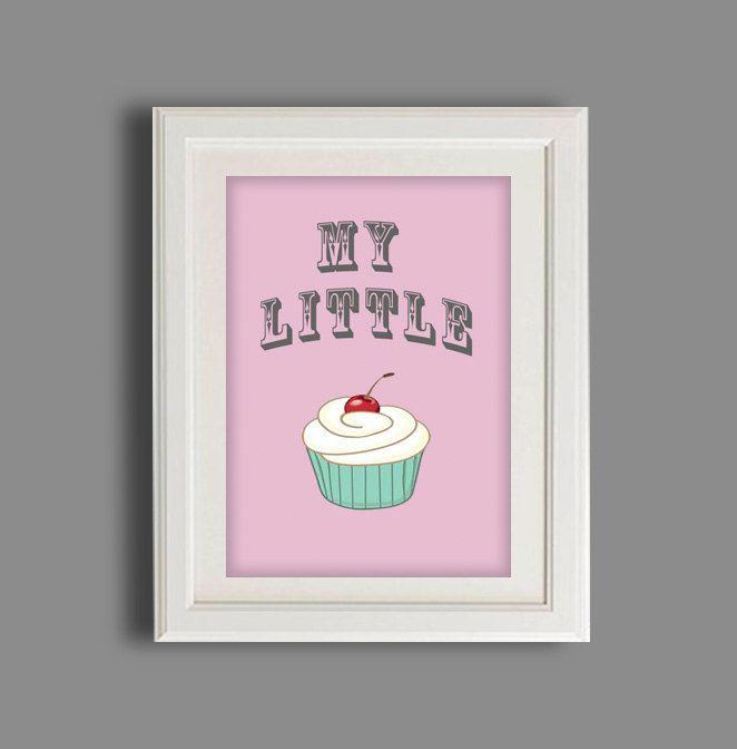 Nursery Art Print Children S Quotations Cupcake Kids Wall Baby Boy