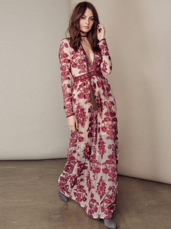 c0d111bc98d For Love   Lemons Temecula Maxi Dress in Wine