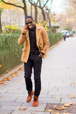 f12d6f6a5b120 How To Wear Black Jeans With Dark Brown Leather Boots | Men's Fashion