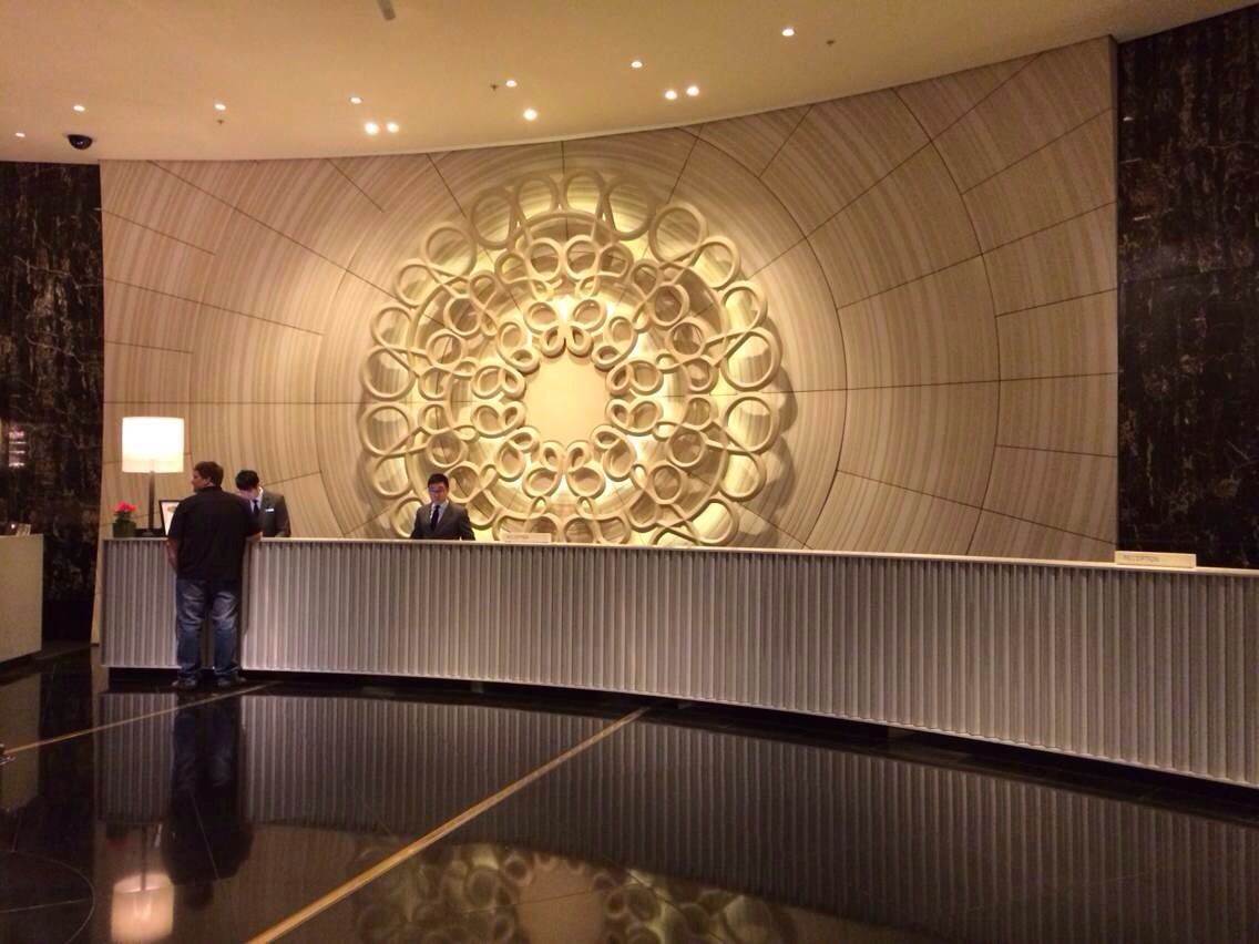 Melbourne crown mahogany casino designer reception for Hotel reception design