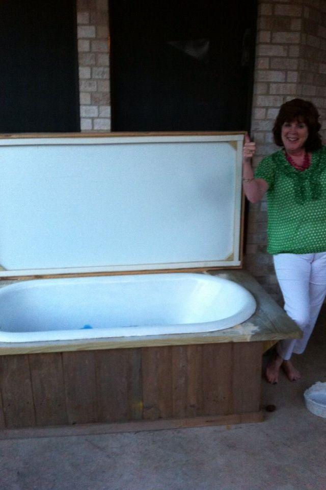My Dad S Genious Idea To Turn An Old Bathtub Into An Ice