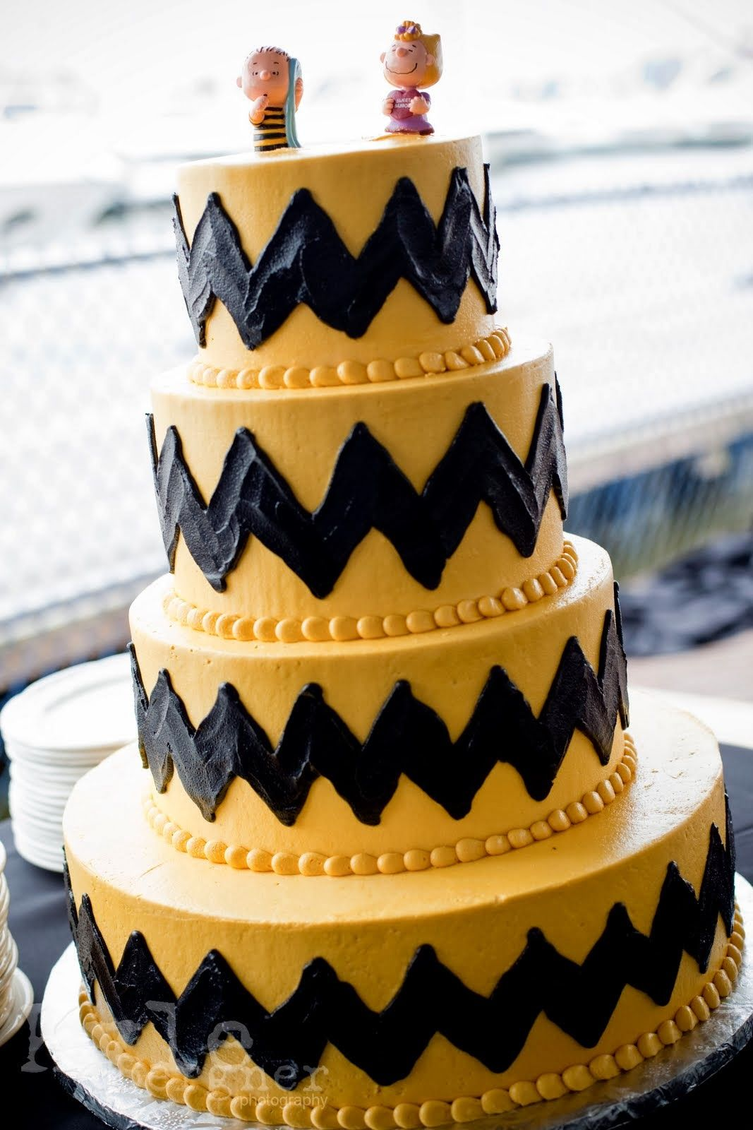 Chevron Charlie Brown cake Charlie Brown cake ideas Pinterest