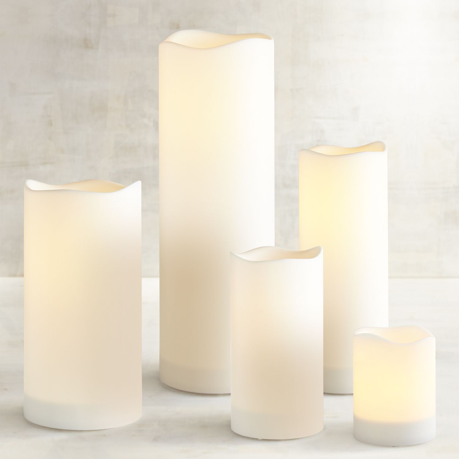 Deco Wick Led Outdoor Pillar Candles