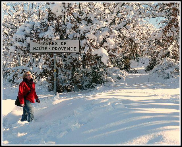 Provence avec de la neige, un...