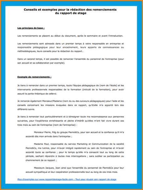 7 Exemple Rapport De Stage Lettre De Demission Julie Pinterest