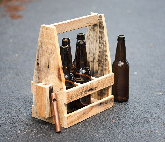 Beer Caddy Wooden Beer Carrier 6 Pack Opener By Bydadanddaughter Wooden Beer Caddy Beer Carrier Beer Caddy
