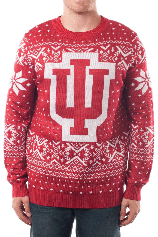 271d235d56 Men s College Christmas Sweater  Indiana University. Go Hoosiers ...