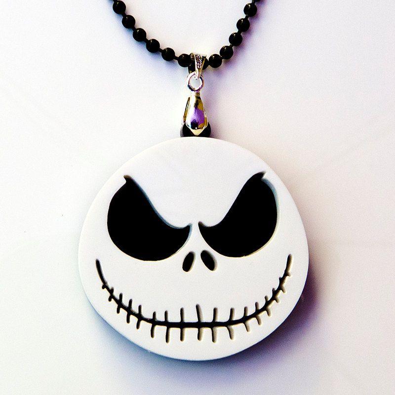 Nightmare Before Christmas Necklace Jack Skellington Pendant Necklace ~ Halloween Necklace