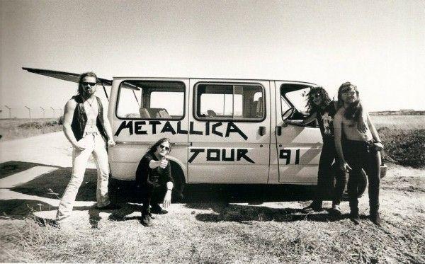 Metallica on tour in 1991...great van :P