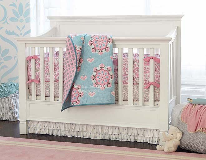I Am Using An Espresso Color Crib Rather Than A White One And A Polka Dot  Fitted Sheet :)) Pottery Barn Kids Brooklyn Pink