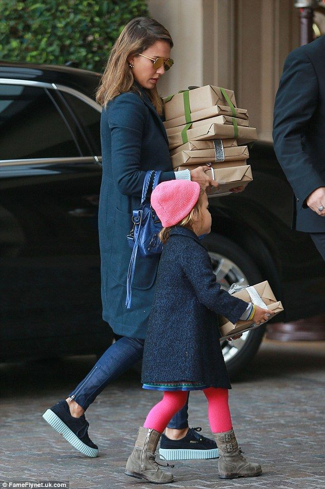 Her mini me  Jessica Alba was joined by her four-year-old daughter Haven  while heading to a holiday partyat The montage Hotel in Beverly Hills on  Sunday 6fa4279f1ba7