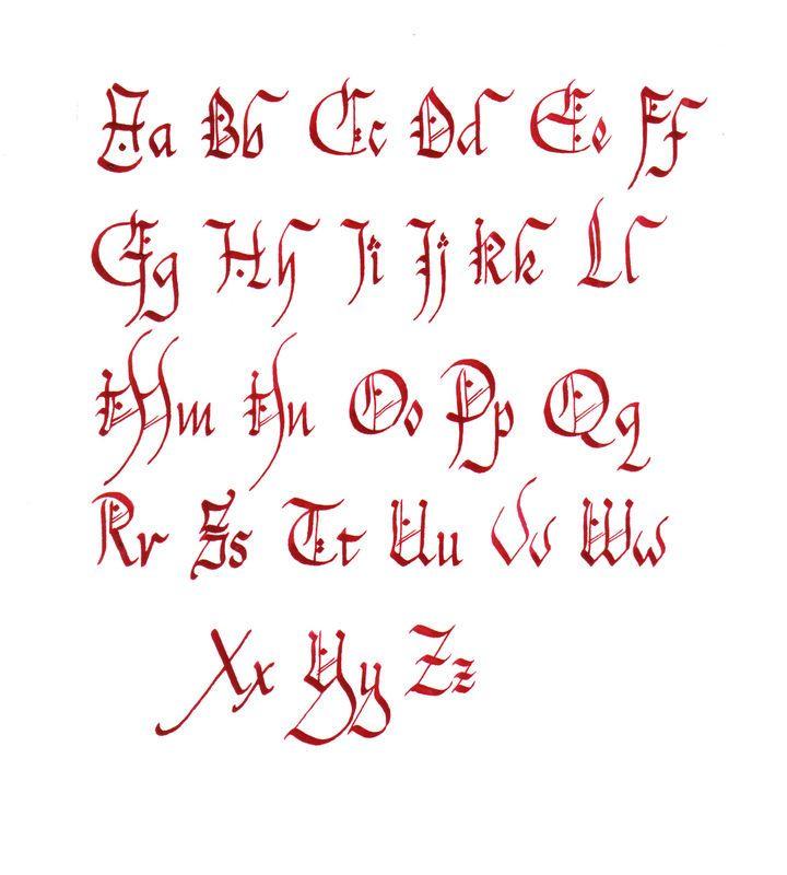 Alphabet Celtique Pour Tatouage Chancelière  Ecriture