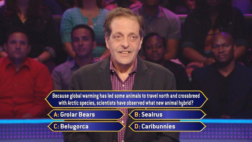 Can you answer this question about animals, the Arctic and the atmosphere Bruce Lynn of New York, NY, gets on Monday, 10/7?