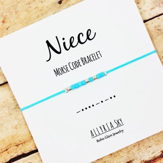 Niece Morse Code Friendship Bracelet  Niece Aunt Gift Jewelry