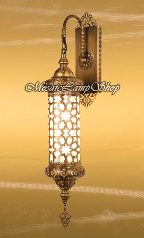 CYLINDER WALL LAMP, Turkish Lamp, laser cut metal,Moroccan ...