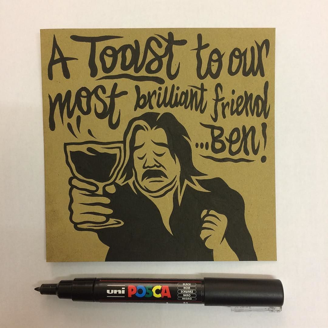 We're off to see #MattBerry & The Maypoles in Manchester soon and  we bought our pal Ben a ticket for his birthday. I made a Toast card for him and used some #SlowClub lyrics. by tomjnewell