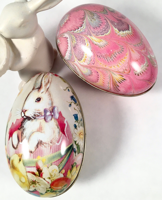 Vintage Easter Egg Tins Decorative Egg Tins For Treats And