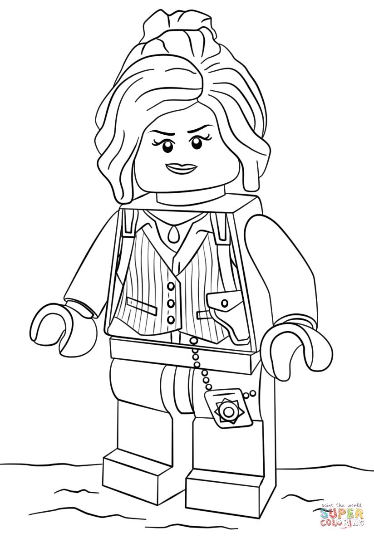 Lego Barbara Gordon coloring page Free Printable