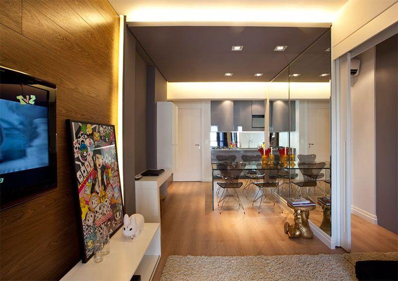 einzimmerwohnung einrichten kluges raumspar konzept brasilien, 17 apartamentos pequenos para você se inspirar | mobiliar & decorar, Design ideen
